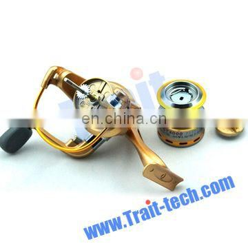 Portable Mini fishing reel ST3000A Golden Metal Fishing Round Wheel Fishing Spinning Reel