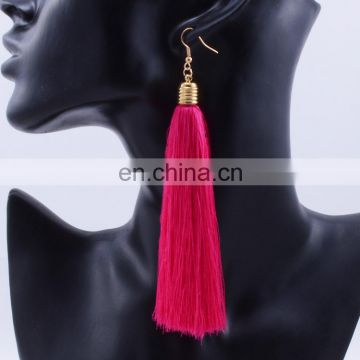 2017 new design fashion long national sue earrings