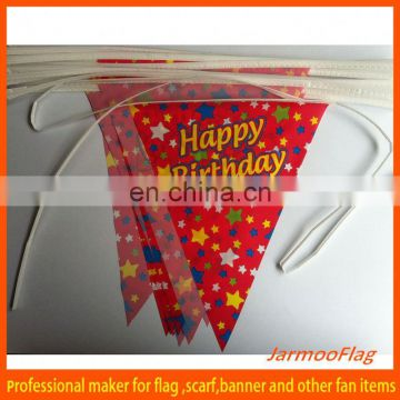 custom plastic party bunting