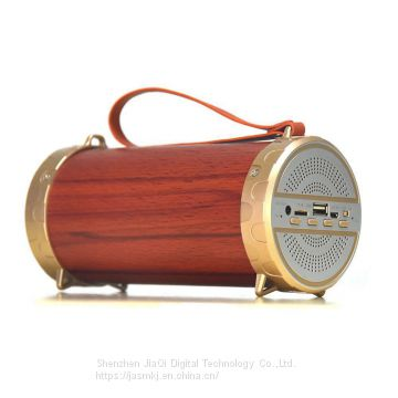 XM1 retro wooden cylinder bluetooth speaker portable portable portable portable travel audio multifunction high volume f