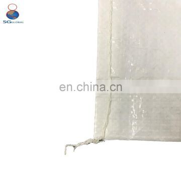 High tensile strength wheat flour packaging 50kg pp bags woven material