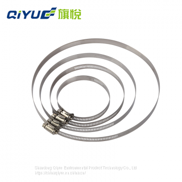 Stainless Steel Fixing  type hose clamp adjustable clamp Good quality factory direct sales