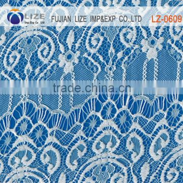 guipure peached nylon/cotton/spandex elastic lace fabric for bra and wedding dress LZ-0609A