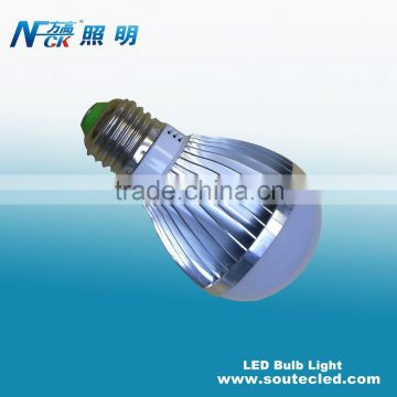 High quality aluminum energy saving power efficiency 3watt warm white led bulb with E12 E14 E26 E27 light base
