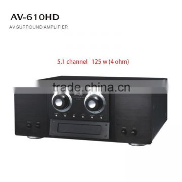 Home theater 125w 5 1 channel surround sound amplifier kit dj power  subwoofer amplifier price