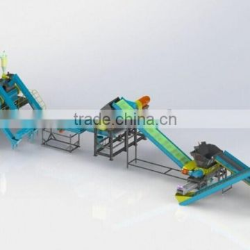 Tire shredder/ recycling machine