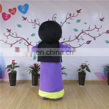 Adult sizes customized cartoon character arabian woman mascot costume for sale