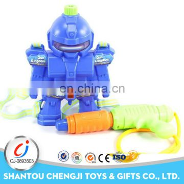 2017 Creative summer toy robot design big backpack water guns for adults