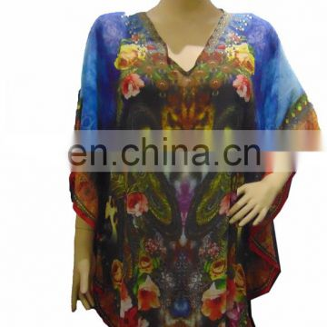 "36"" DIGITAL PRINT GEORGETTE KAFTAN"