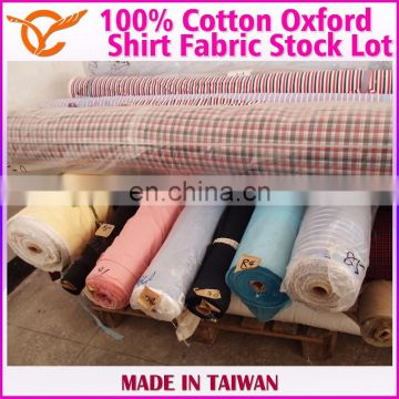 Taiwan Wholesale Gingham Oxford Fabric Stock Lot