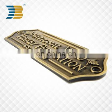 high quality custom metal label for wholesale