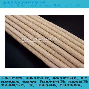 China manufacturer of flexible electrical insulating crepe paper tube for transformer