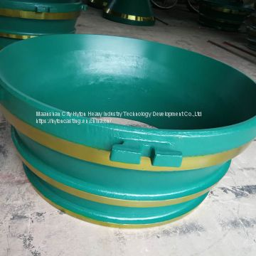 casting parts bowl liner mantle of high manganese steel suit gp500s metso nordberg cone crusher
