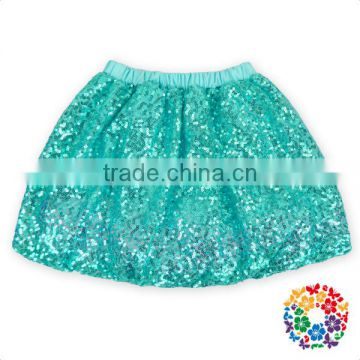 Adorable Pink Color Children Mini Skirts Girls Wearing Short Sequined Skirts Baby Girls Tulle Party Evening Skirt