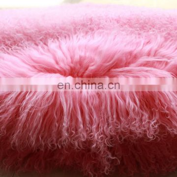 60x120 Mongolian Lamb Fur Rug Plate handcrafted buttery curls for cosy relaxing home uses