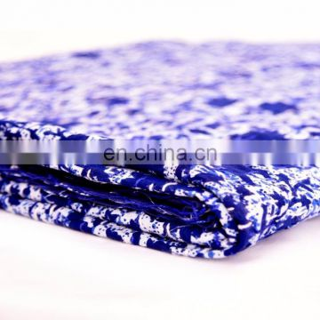 indigo blue Kantha Quilt Hand Quilted Indian Latest Throw Floral Blanket Twin size Kantha Quilt Bed cover
