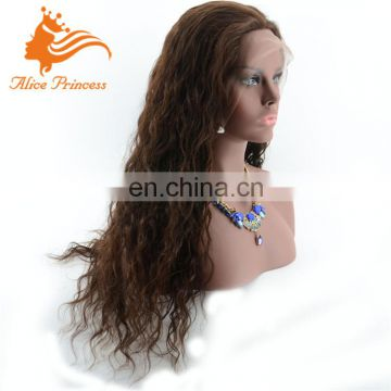 wavy glueless full lace wigs for black women natural hairline chocolate hair wig