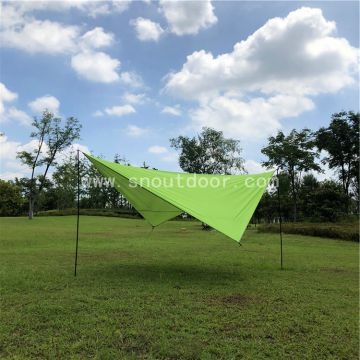 Diamond Flysheet 190T with silver coating Quality large size outdoor rain fly beach tarp