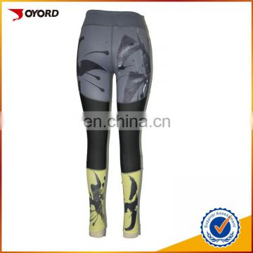 sublimation tight spandex leggings custom sexy women compression yoga pants