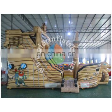 2016 Aier CE approved inflatable pirate ship slide/used commercial inflatable slide for sale