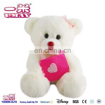 2016 plush bear toy with bag plush soft stuffed toy for kid child 0516