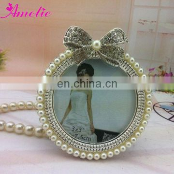 A9088 Pearl Bow Wedding Nice Imikimi Photo Frame