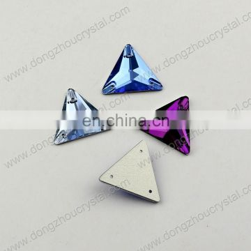 DZ-3069 ab color sew on triangle crystal stones for clothes