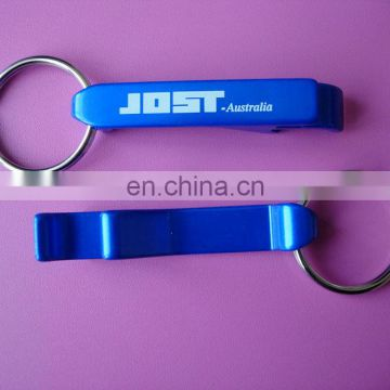 blue and silver plated printing logo aluminium beer bottle opener
