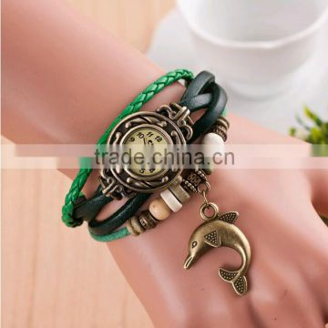 Fashion Retro Classic Leather Strap Woman Bracelet Wrist Watch                                                                         Quality Choice