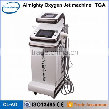 Oxygen Jet Facial Machine 2016 Hot Selling Water Oxygenated Water Machine Portable Facial Machine Wrinkle Removal Oxygen Jet Peel Beauty Machine Cleaning Skin Face Lift