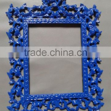 blue colour wall mirror