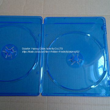 blue ray dvd case blue ray dvd box blue ray dvd cover 7mm double rectange good quality with lower price (YP-D864H)