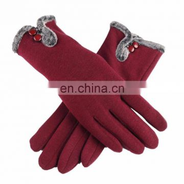 Dropshipping Winter Women Plush Gloves Touch Screen Gloves