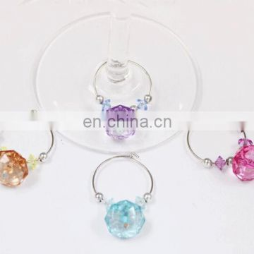 wine glass charms with crystal beads