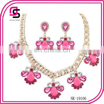 Beautiful style Flower necklace earring Jewelry Sets 2015