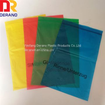 wholesale plastic Ldpe printed custom color zipper bag/ziplock bag for packaging