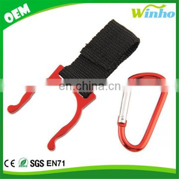 Winho Carabiner Belt Clip Key Chain with Water Bottle Clamp Holder