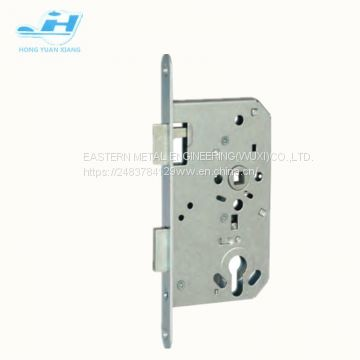 Wooden door lock mortise lock body good quality hot sales in German 72mm hole center 65mm backset