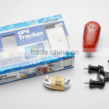 big led light bike gps tracker 2g gsm gprs gps tracking device for bicycle with SOS alarm