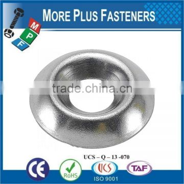 Made in Taiwan Black Countersunk Brass Finish Metric Surface Countersunk Cup Steel Stainless Steel Finishing Washer