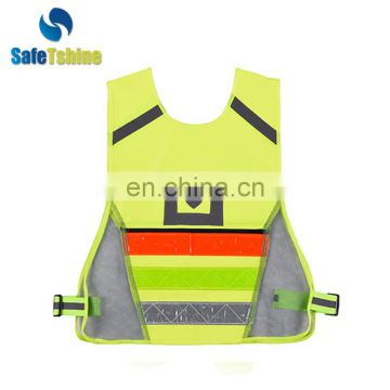 China manufacturer durable reflective running vest