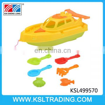 Nice design beach toys kids plastic boat set for sale