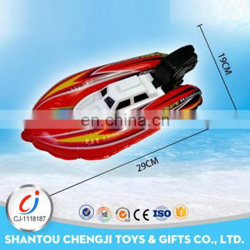 Promotional product racing inflatable wind up toy boat