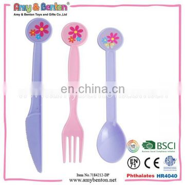 2015 New Toy Kitchen Toy Set Kitchen Tool Mini Kitchenware Play House Plastic Kinfe And Fork Toy For Kids