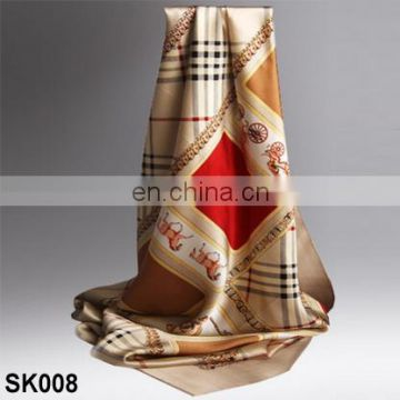 Wholesale top sale high quality silk satin neck scarf for women