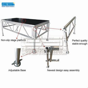 Wholesale portable steel truss wedding concert  aluminum stage platform on sale