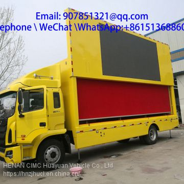 7.6 m led advertising  mobile stage truck for sale