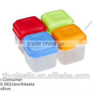 4pcs mini container plastic food storage box