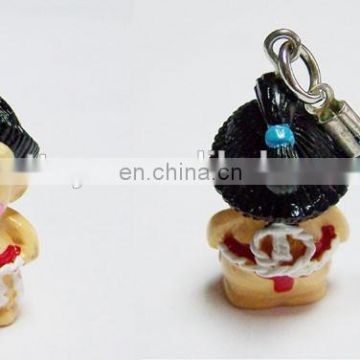 promotional custom kawaii sumo figure keychain