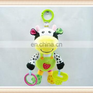 hot sell bear shape plush baby bells for toys